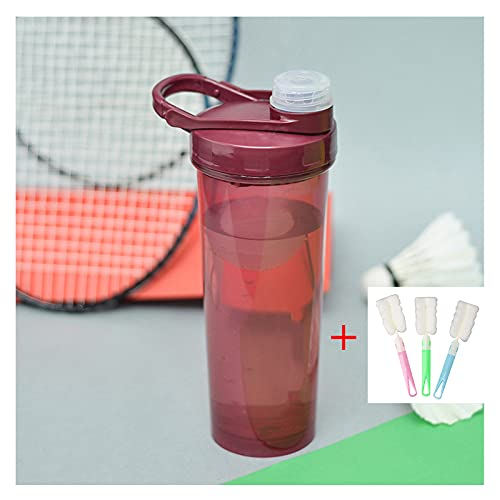 Protein Shaker Bottle 700ml with Mixer Ball and complimentary Clean Brush, BPA Free Blender Shaker Mixer Cup for Juicing, Protein Shakes and Pre Workout