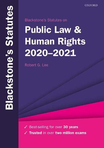 Blackstone's Statutes on Public Law & Human Rights 2020-2021
