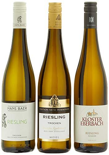 Geschenkset Riesling aus Deutschland trocken, 3er pack ( 3 x 750 ml)