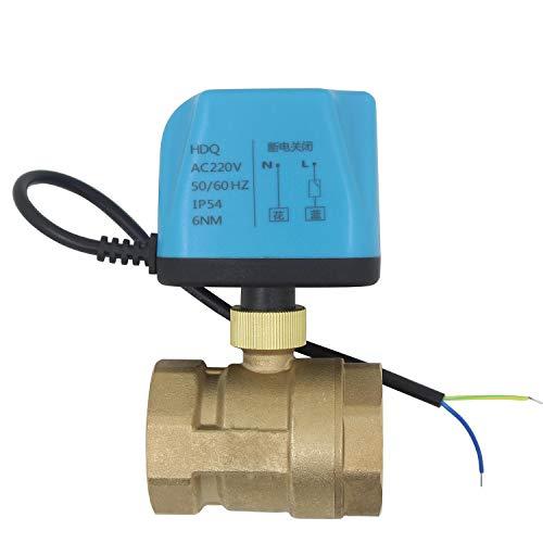 2 Drähte NC - 2 wege motorkugelhahn 230v ventil elektrisch kugelventil elektrisch 220v - zwei wege motorventil 1/2 3/4 1 1-1/4 1-1/2 2 zoll (DN15-1/2 zoll)