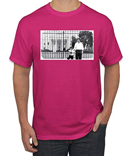 Pablo Escobar Medellin Cartel Cocaine Cowboys White House Picture | Mens Pop Culture Graphic T-Shirt, Fuschia, Small