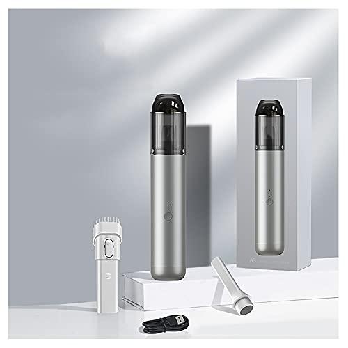 Aspirador Coche, Potente Bateria,Aspirador En Seco Y Hmedo para Oficina Hogar Y Coche ,sin Cable Potente con Luz Carga Rápida (Color : Silver)