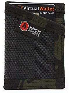 Recycled Firefighter The Fire Hose Sergeant Wallet - Front Pocket Wallet, Black/Multicam