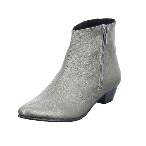 Double You by Dessy Damen Stiefelette Pyrite Warmfutter elegant Metallic Ankle Boot Gold (Siver) Größe 42 EU
