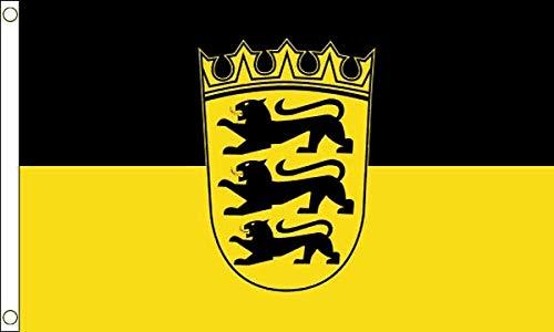 FlagSuperstore Flagge Baden-Württemberg 150 x 90 cm - Deutsche Provinz Deutschland - 100% Polyester mit Ösen