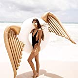 YLJYJ Colchones de Aire inflables Gigantes con diseño de alas de ángel, Flotador para Piscina, Flotador para Piscina al Aire Libre, Flotador para salón, Cama de Juguete para Adultos (Espejo)