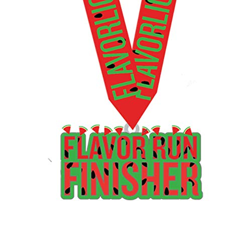 5k Running Race Medals with Ribbon | Flavor Run Racing All Events | Quality Zinc Alloy Design Mold | Kids Ribbon Trophy Prize (Single Watermelon)