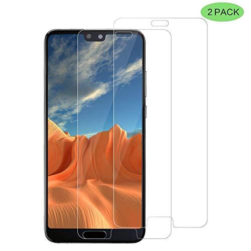 RIIMUHIR Bläschenfrei,HD Klar,9H Härte,Displayschutzfolie für Huawei P40 Lite,Panzerglas für Huawei P40 Lite [2 Pack],Anti-Kratzer