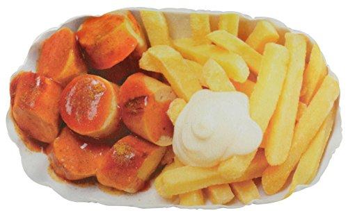 Pommes Currywurst Plüschkissen