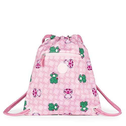 TOUS Mochila Plana School Logogram Color Rosa