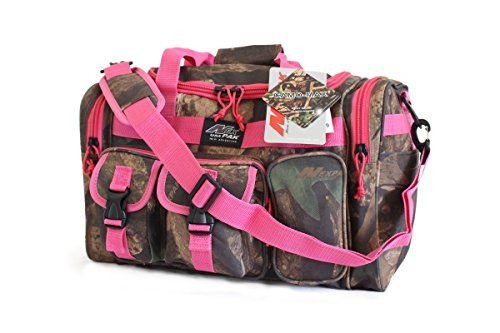 "NPUSA 18"" Tactical Duffle Military Molle Gear Shoulder Strap Range Bag TF118 DCPK Hunters Camo Pink"