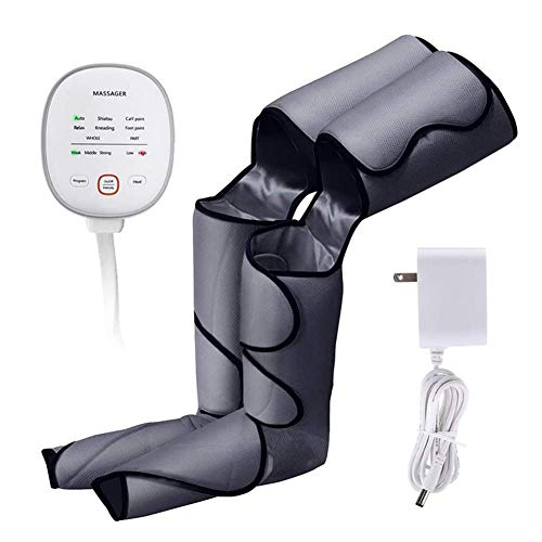 BIYLL Leg Massager for Circulation Foot and Leg Massager for Circulation with Knee Heat with Hand-held Controller 6 Modes 3 Intensities Best Gifts for Men/Women/Mother/Father/Family