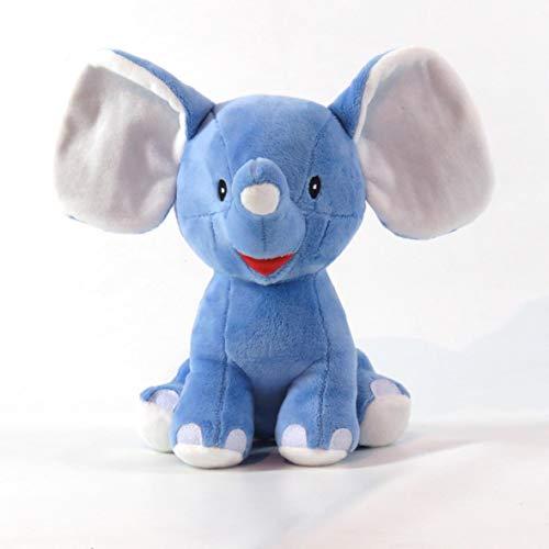 Pelúcia Elefante Feliz, Love, Azul