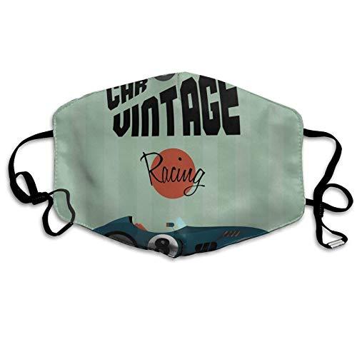 Clásico póster vintage para coche, competición deportiva, a prueba de sol, a prueba de sol, bufanda, bandana para la cabeza