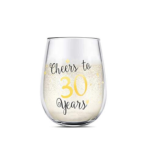 30 cumpleaños divertido Copas de vino sin tallo de oro Regalos para mujeres hombres Regalos para el mejor amigo Aniversario de bodas de fiesta Decoraciones de fiesta