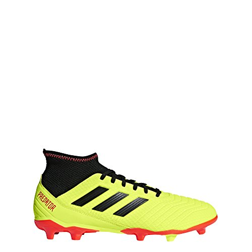 adidas Men's Predator 18.3 FG Soccer Shoe, Solar Yellow/Black/Solar red, 9 M US