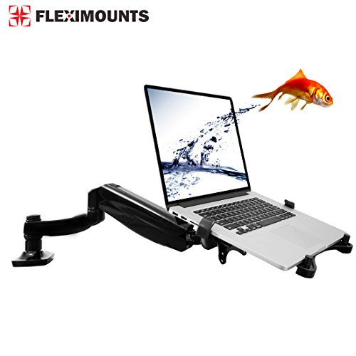 Fleximounts 2 in 1 Desk Laptop Monitor Mounts for 10-27 inches LCD Screen or 10-17.3 inches Notebook (for Laptop, Desk Mount)