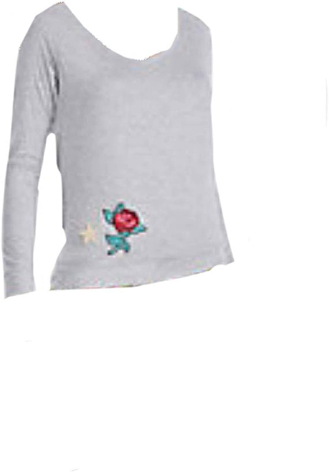 Betsey Johnson Women's Raglan Sleeve Top with Patches