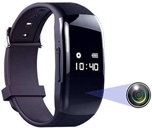 Telecamera hd spia, ricaricabile USB Telecamera nascosta wireless Orologio HD 1080P Fotocamera compatta e portatile, con scheda TF