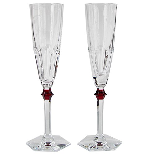 バカラ Baccarat グラス シャンパンフルート ペア アルクール イヴ レッドボタン HARCOURT EVE シャンパングラス 25cm 2807194 2807194 [並行輸入品]