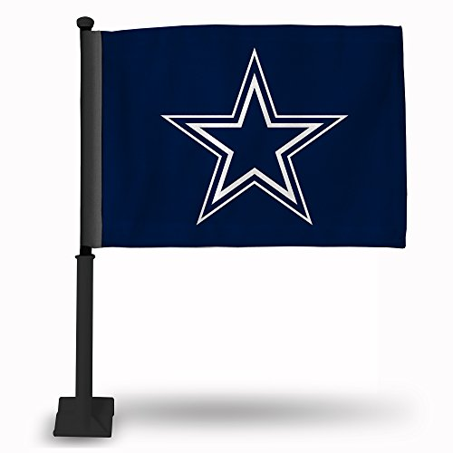 NFL Rico Industries  Car Flag including Pole, Dallas Cowboys - Navy