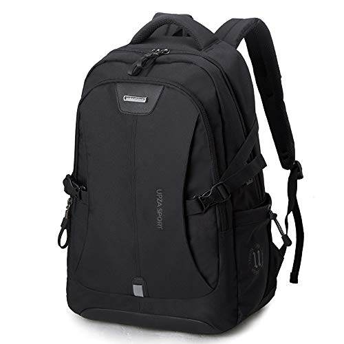 L-LK ノートパソコンのバックパック、USB/ヘッドフォンスリッツ、カレッジの学校旅行ビジネスバックパックバッグを持つ男性と女性のアンチ防水コンピュータバックパックのために15.6インチのノートパソコンのリュックサック - ブラック