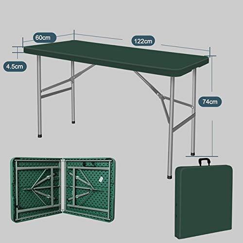 ZFLL Picknick klaptafel en stoelen Outdoor opklapbare tafel picknick draagbare tafel en stoel stevig en licht opvouwbare camping bureau L 1.2m groen