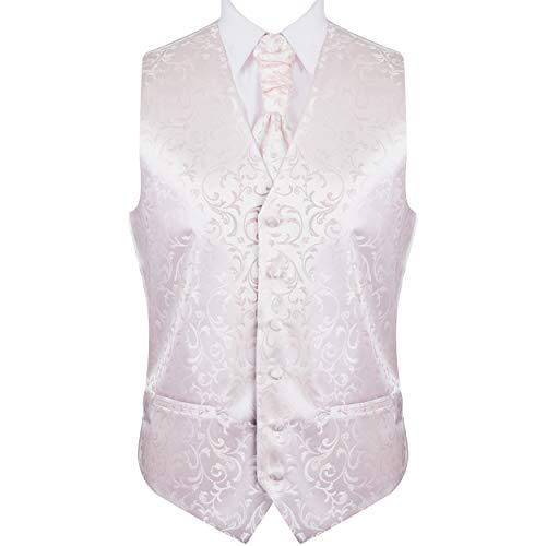 Abel & Burke Champagne Swirl Leaf Wedding Waistcoat #AB-WW1000/13 Men's L - 42''