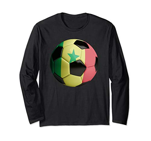 Senegal Fahne Fußball Langarmshirt