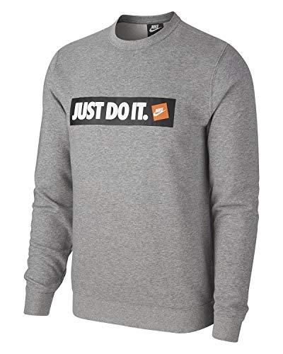 Nike M NSW Hbr CRW FLC Ft Haut à Manches Longues Homme, DK Grey Heather, XL