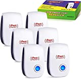 Ultrasonic Pest Repellent 6 PACK , 2020 Upgraded Pest Repeller,Pest Control Set of Electronic Plug in Mosquito Repellent Indoor for Flea, Mosquitoes,Mice,Spiders,Ants,Roaches