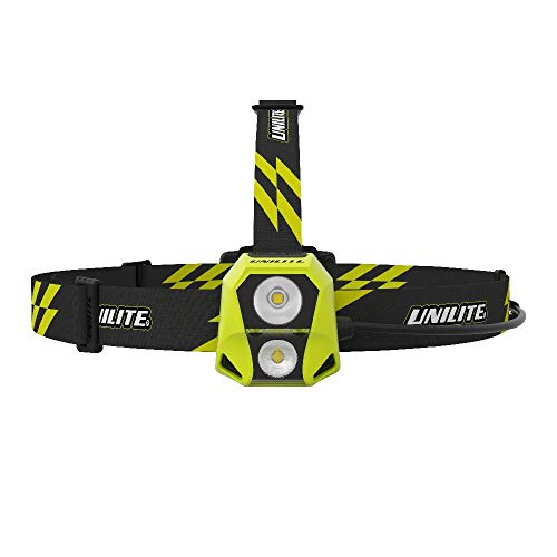 Unilite HL 6R USB Rechargeable Dual Power Twin CREE LED Head Torch 450 Lumen Micro USB Charging Cable Included 1 to 96 Hours Run Time FREE Car Air Freshener