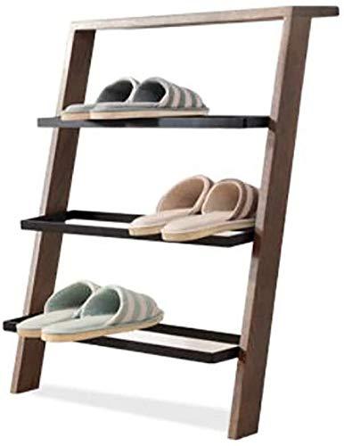 Wddwarmhome Zapato de bambú Rack Shoe Rack Multi-Capa de Madera Moderno Rojo Roble Asamblea Tipo Económico Tipo de Zapato