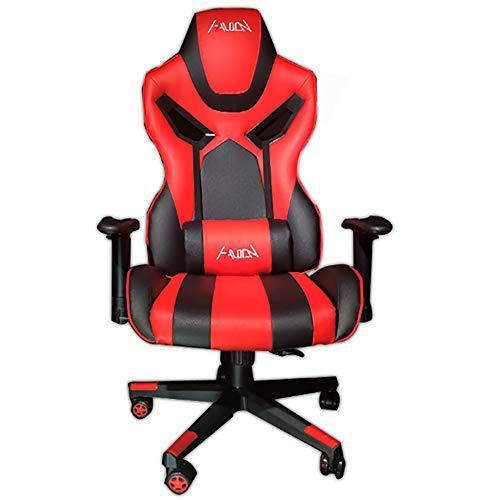 Ergonomisch Gaming Stuhl, Computer Stuhl Schreibtischstuhl 4D Armlehnen Ergonomisches Design Kunstleder Perforation Wippfunktion Belastbarkeit Bis 150 Kg