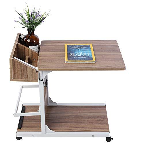 NITRIP Escritorio para computadora portátil extraíble Multifuncional, cajón de Ruedas portátil Duradero extraíble Escritorio para computadora portátil extraíble, Escritorio para(Oak)