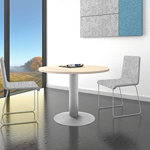 WeberBÜRO Optima runder Besprechungstisch Esstisch Küchentisch Tisch Ahorn Rund Ø 100 cm