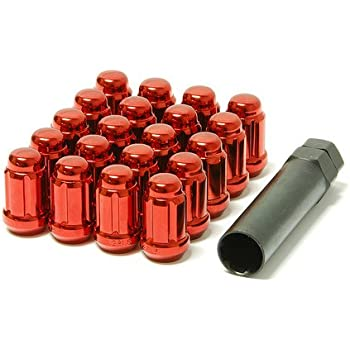 Muteki 32902R SR48 Series Red 12mm x 1.5 Thread Size Open End Locking Lug Nut Set
