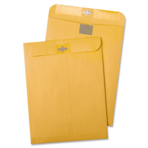 Quality Park Postage Saving Clear-Clasp Envelopes, 10 inches x 13 inches, Kraft, 100 Count (43768)