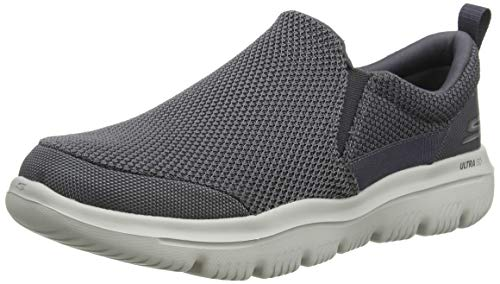 Skechers Men's GO Walk Evolution Ultra-Impeccable Sneaker, Charcoal, 10 M US