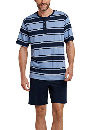Schiesser Herren Zweiteiliger Schlafanzug Kurz, Blau (blau 800), Medium (Herstellergröße: 050)