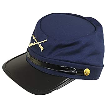 Cotton Civil War Union Kepi Replica Hat L/XL Navy Blue