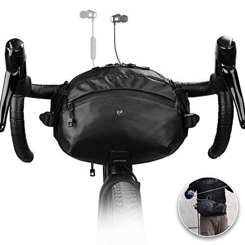 Rhinwoalk Multifunktional Fahrrad Lenkertasche Fronttasche Flaschenhalter Wasserdicht Bauchtasche Hüfttasche Brusttasche Fahrradtasche