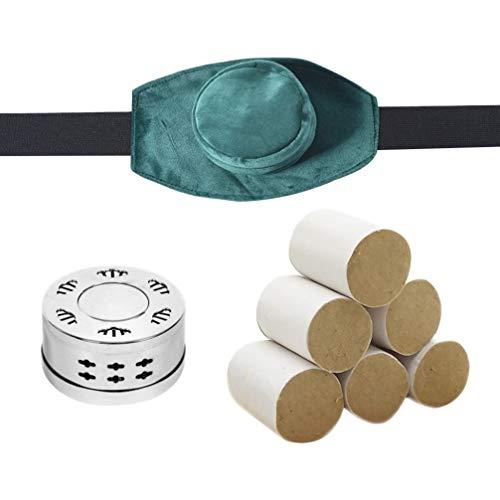 Healifty Moxa Set Moxa Stick Moxibustion Box Pain Relief Massage Set for Stomach Back Body