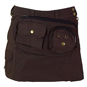 GURU-SHOP, Goa Shorts, Falda Pantalón, Café, Algodón, Tamaño:S (36), Pantalones Cortos y 3/4 Pantalones, Calcetas | DeHippies.com