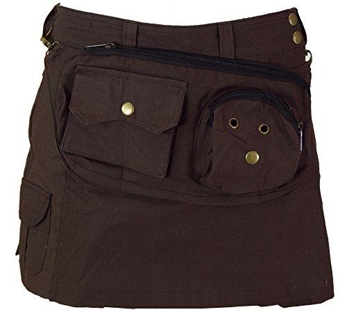 Goa Shorts, Hosenrock / Shorts und 3/4 Hosen, Leggings, alternative Bekleidung von Guru-Shop, Coffee, M