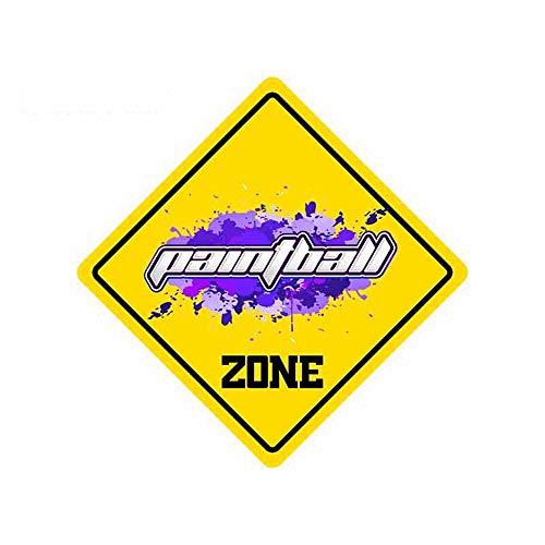 13cm x 13cm Paintball Zone Grafiken Lustige Autoaufkleber und Abziehbilder Kühlschrank VAN Laptop Aufkleber