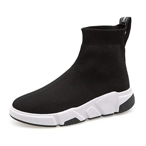 Las Mujeres Zapatillas de Moda Verano Tendencia Calcetines Zapatillas luz Alta Superior al Aire Libre Jogging Zapatillas Deportivas Juveniles