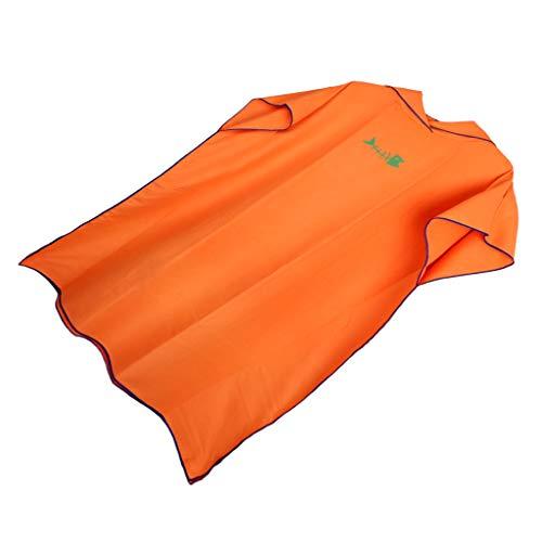 B Baosity Toalla de Poncho Surf con Capucha para Adultos Mujeres Hombre, Traje de Playa de Microfibra Bañador para Baño de Natación Ropa Piscina - Naranja