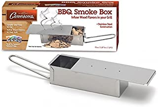BBQ Smoker Box - Stainless Steel Barbeque Smoke Box with Easy Handle and Sliding Lid - Infuse Smoke Flavor Easily on Barbecue