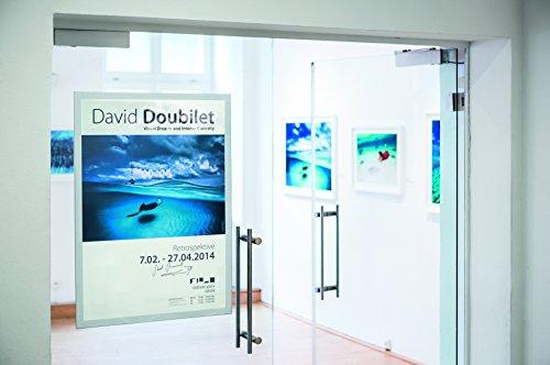 Durable 499723 Info-Rahmen Duraframe Poster (A1 selbstklebender Plakatrahmen mit Magnetverschluss) 1 Stück silber